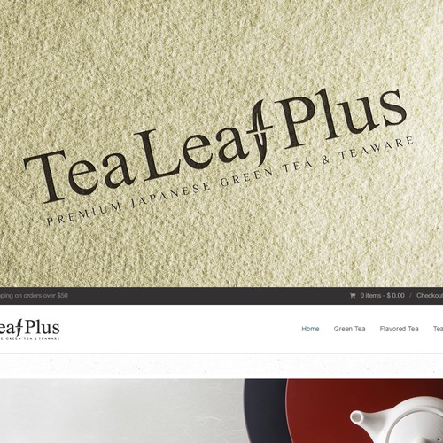 Logo for Tea Leaf Plus - Premium Japanese Green Tea & Teaware