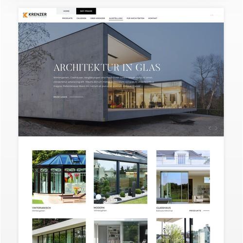 Minimal webdesign