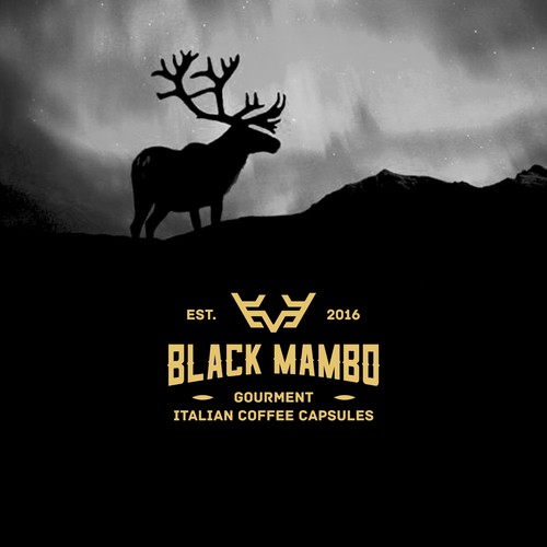 Simple concept for logo Italian Coffee