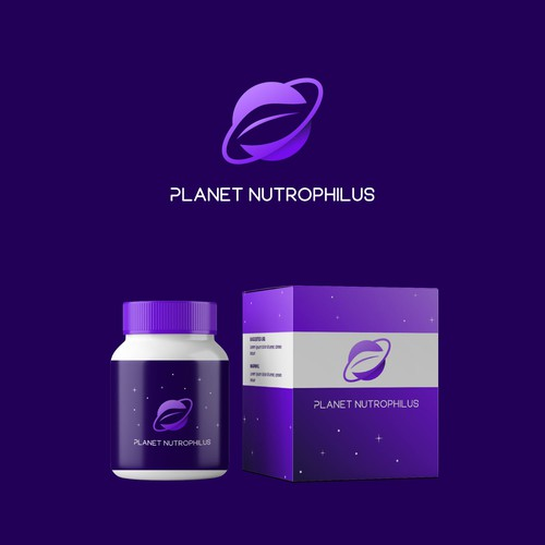 Bold logo concept for nutrition supplement