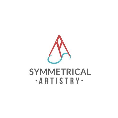 Design logo symmetrical artistry