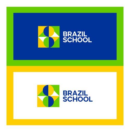 Brazil School Logotype