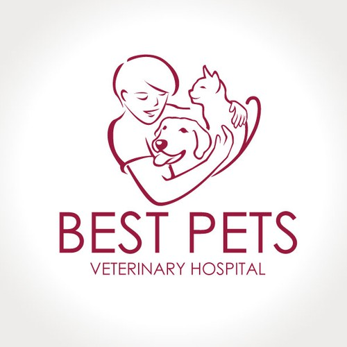 Create a logo with a Physical/Emotional bond for my Veterinary Hospital