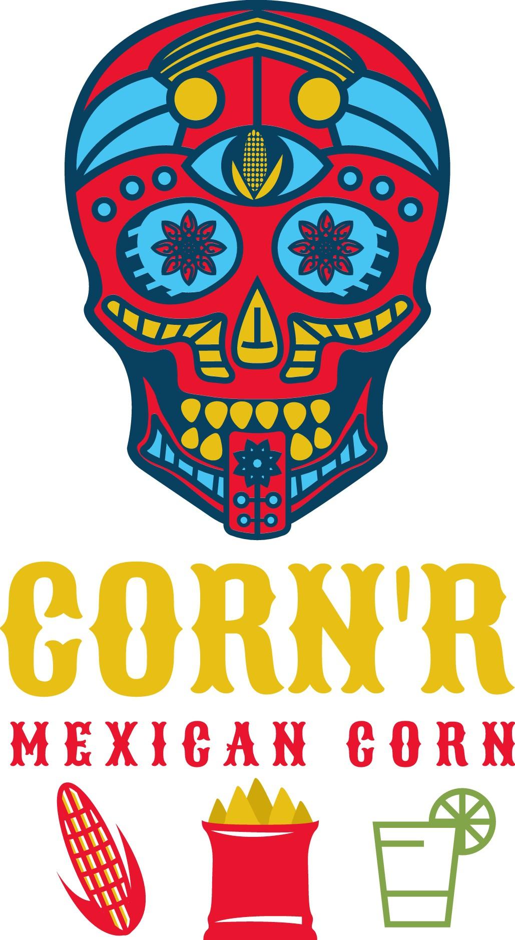 maxican food stand: Corn on Cob, Mojitos & Churos Clean designs plz