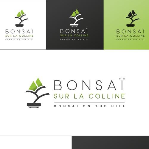 Bonsai Sur la Colline Logo Design
