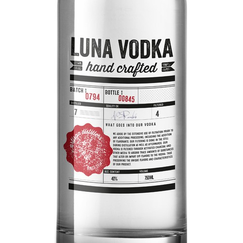 Product a premium hand-crafted Vodka logo.