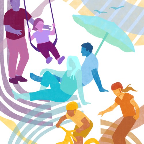 Colorful illustrations for website