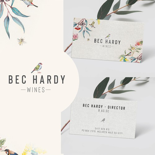 Logo and business card design for new wine label.