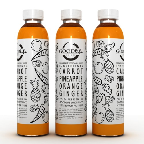 Create label for local carefully crafted, organic cold pressed juice company.