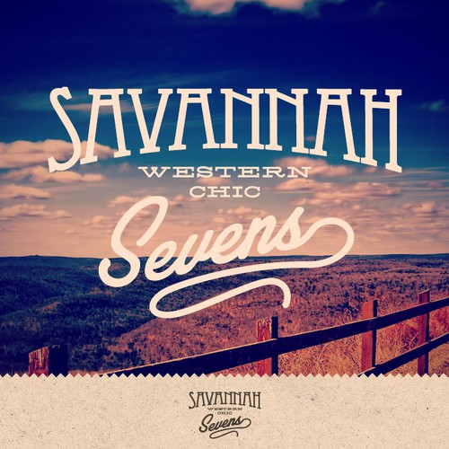 "Savannah Sevens Western Chic - Create a logo to ""brand"" this new western/vintage boutique!"