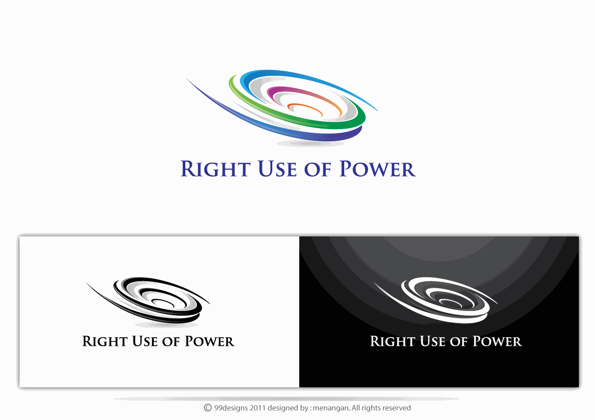 Help Right Use of Power with a new logo