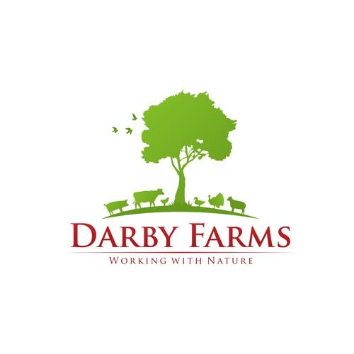 Created an animal driven logo for an animal driven farm