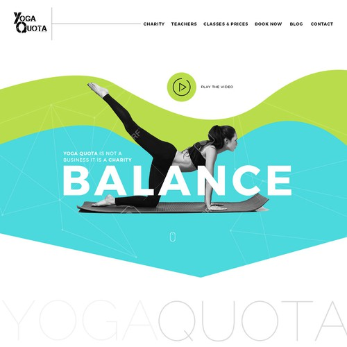 Design a landing page to help this charity spread yoga to the world!