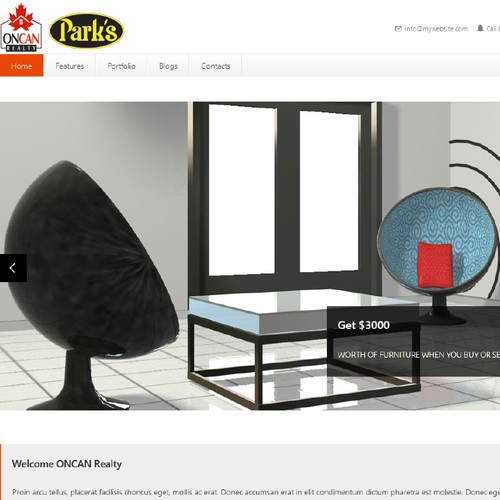 Create a $3000 Furniture give away banner ad