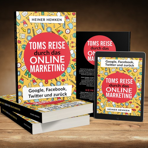 Book cover for an Online Marketing