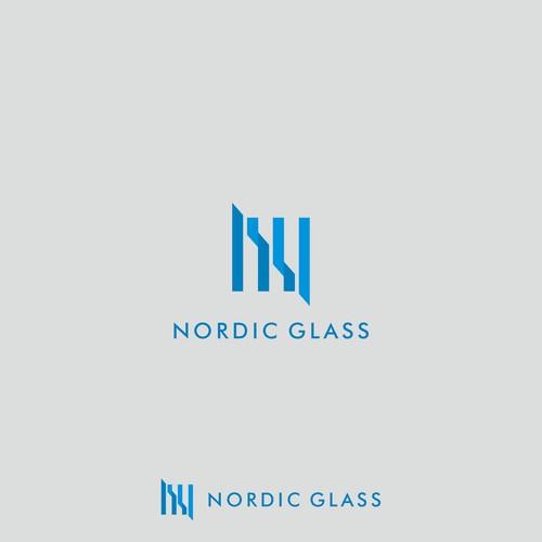 Logo draft for NORDIC GLASS.