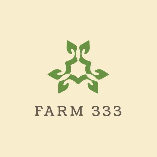 Powerful logo for Farm 333