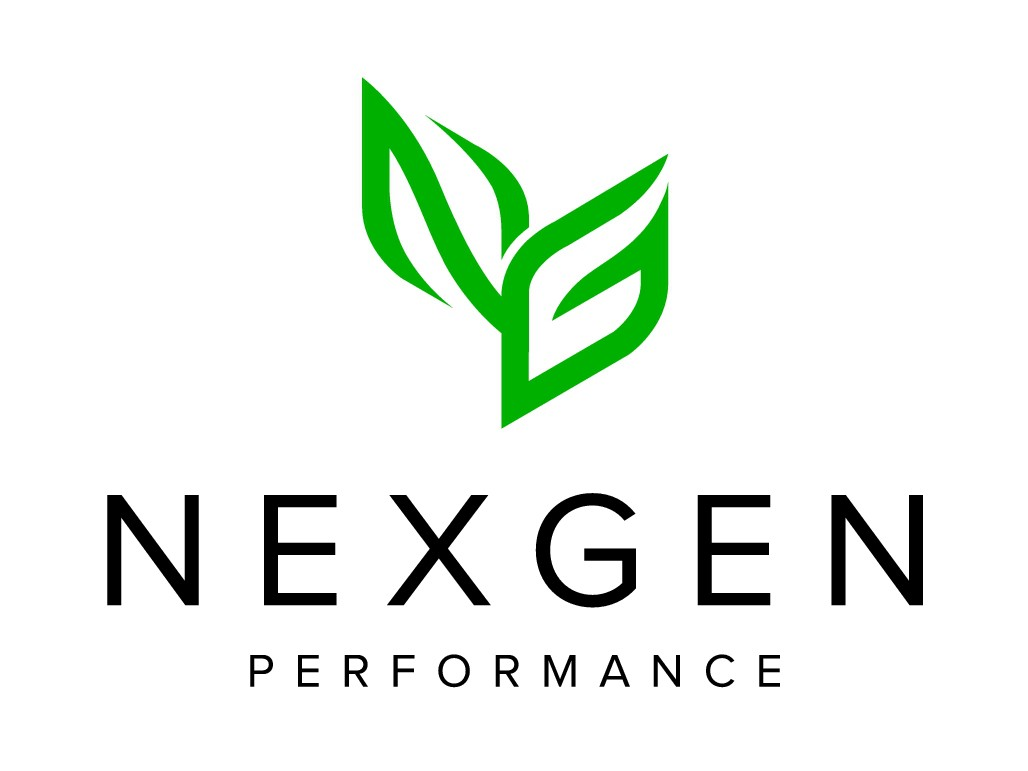 Design a clean logo and bag design for a health / supplement company called NexGen Performance