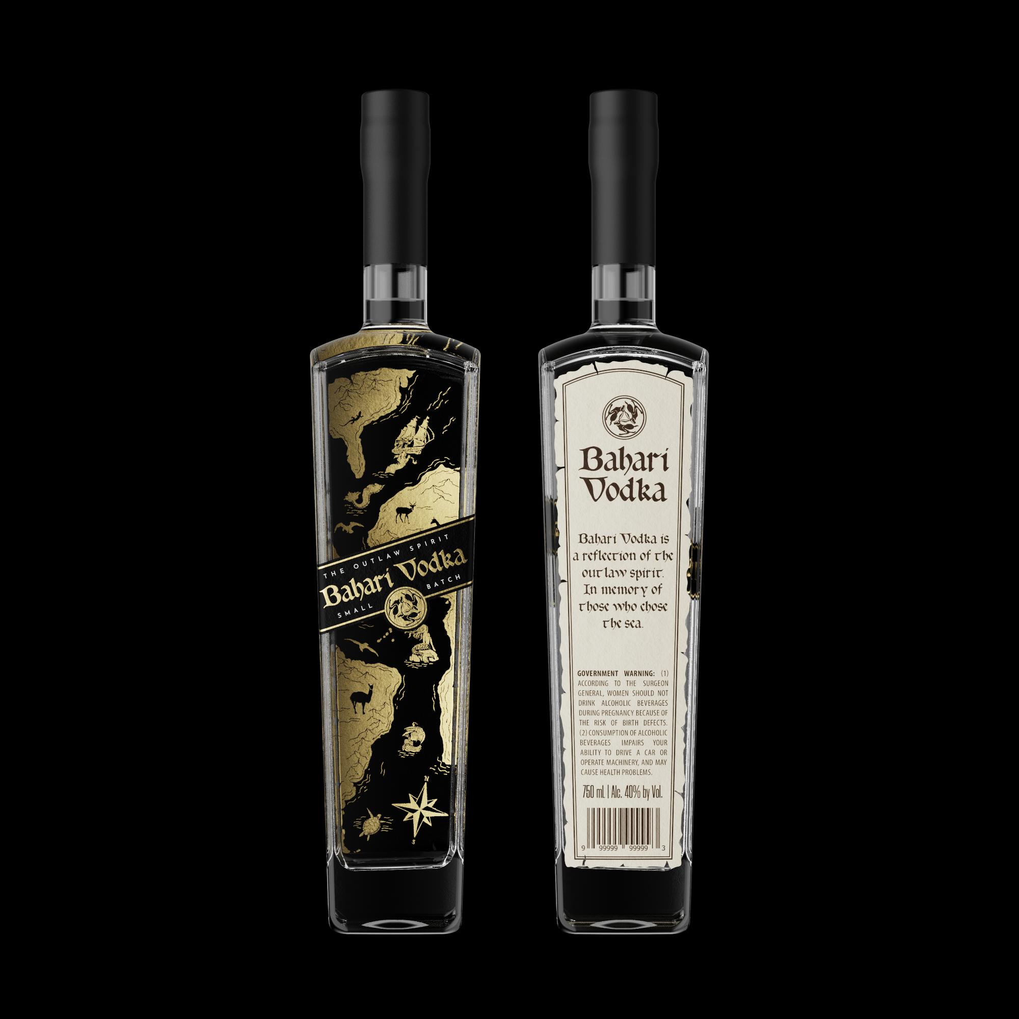 Label and bottle design for a handcrafted Vodka