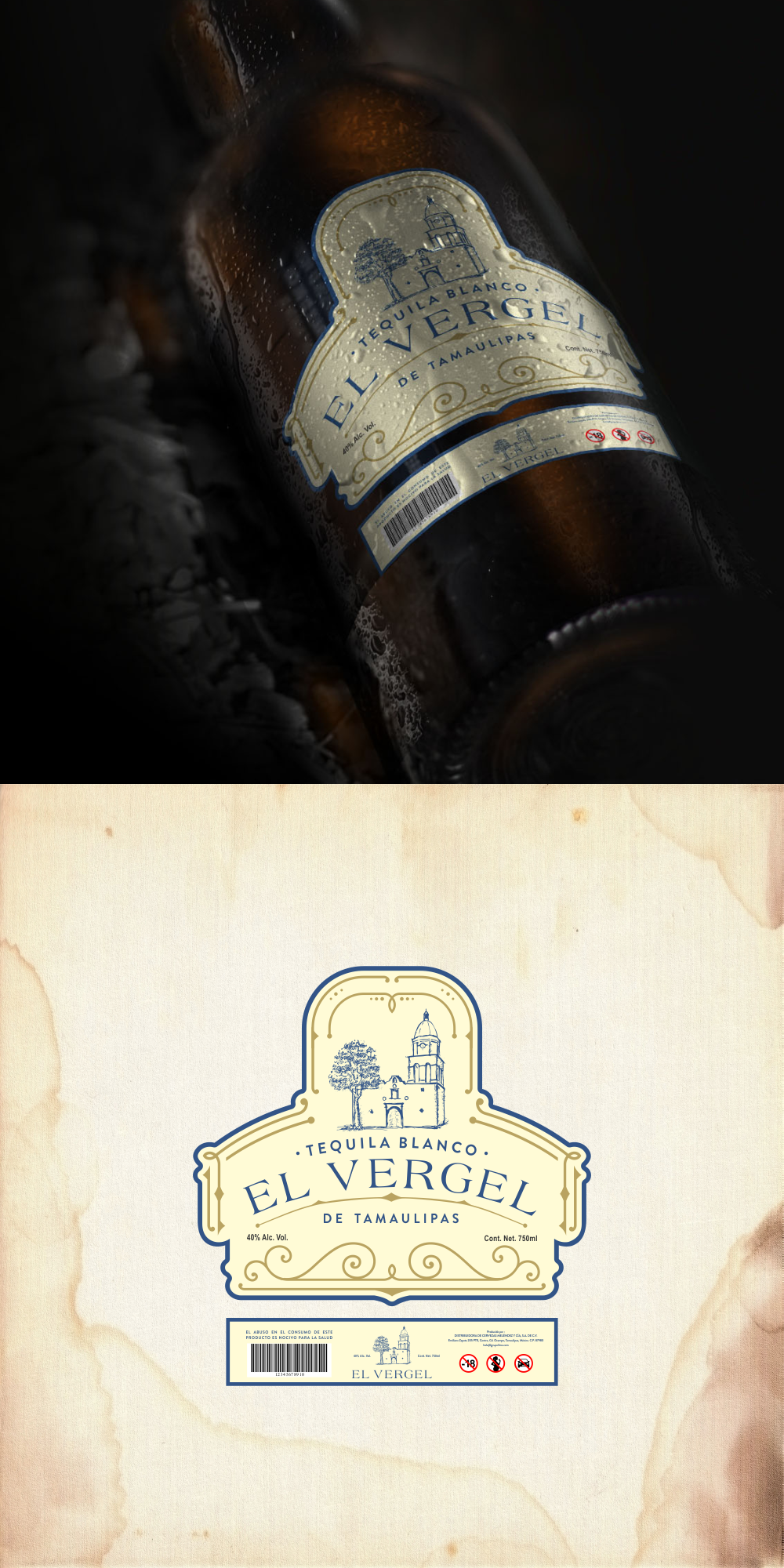 Create an outstanding Label for a Small Distillery in Ocampo, Tamaulipas Mexico