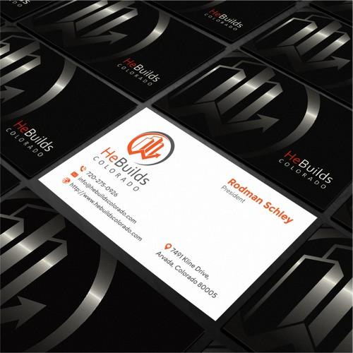 business card hebuilds colorado