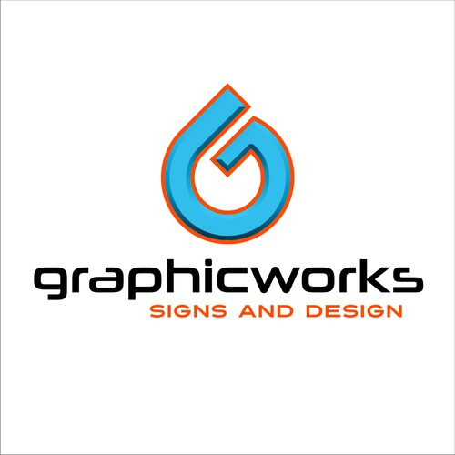 G/Ink Drop Logo for Sign company
