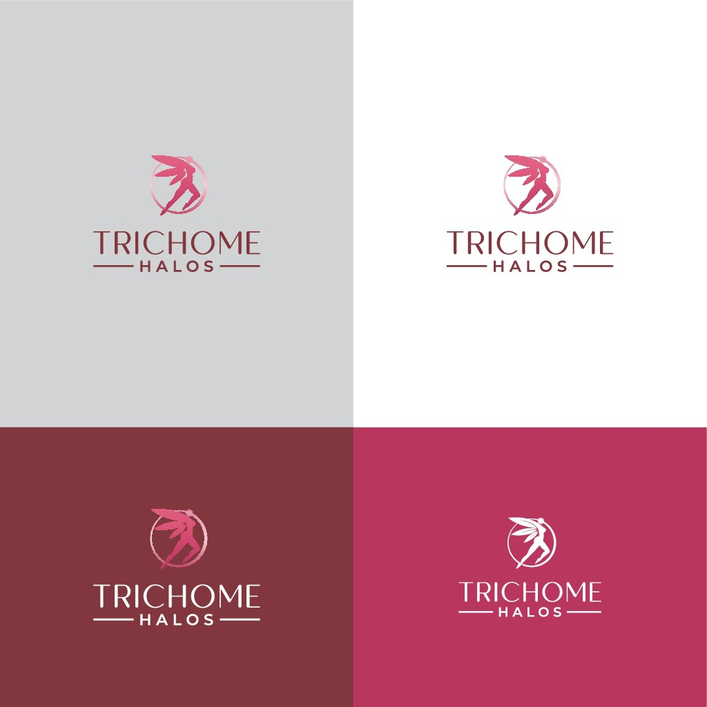 design a classy elegant logo for an all girl cannabis delivery service.. colors we're aiming for are magenta, gray and b