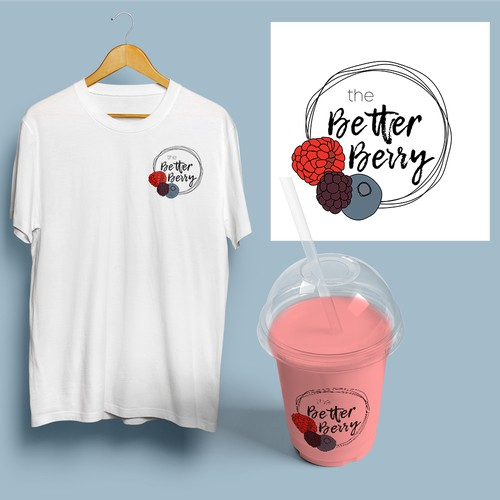 Logo concept for a shop that sells smoothies