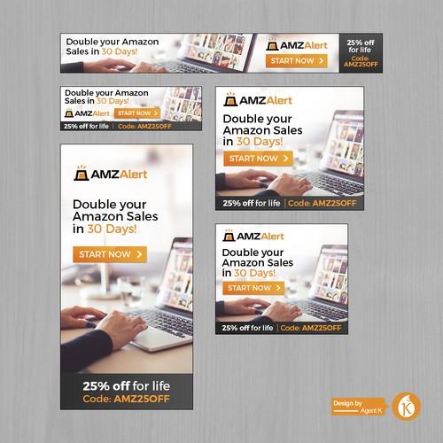 Banner Ad Set for AMZ Alert