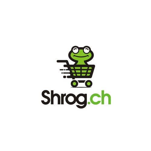 Crazy Logo with a Frog for a Online-Shop