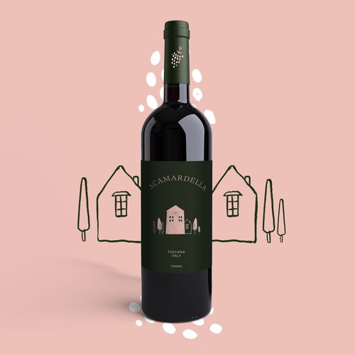Wine label For Italian Wine.