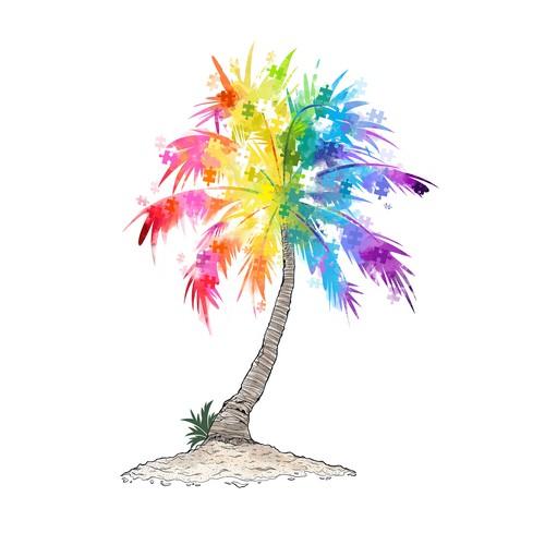 Puzzle Rainbow Tree