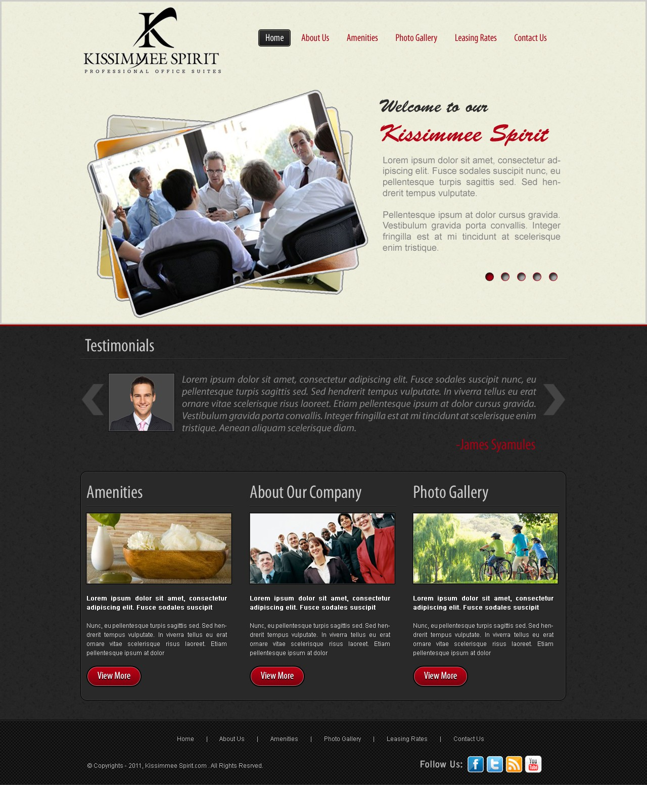 New website design wanted for Professional Office Suites