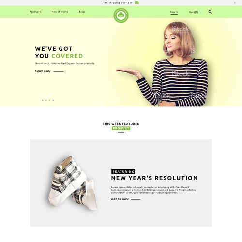 Website for Organic cotton mart