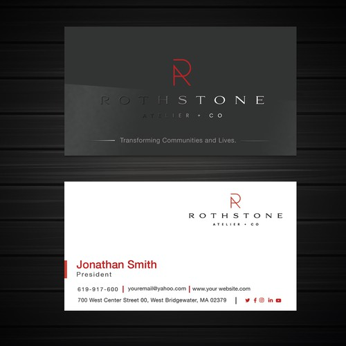 Rothstone Atelier co's Business Card