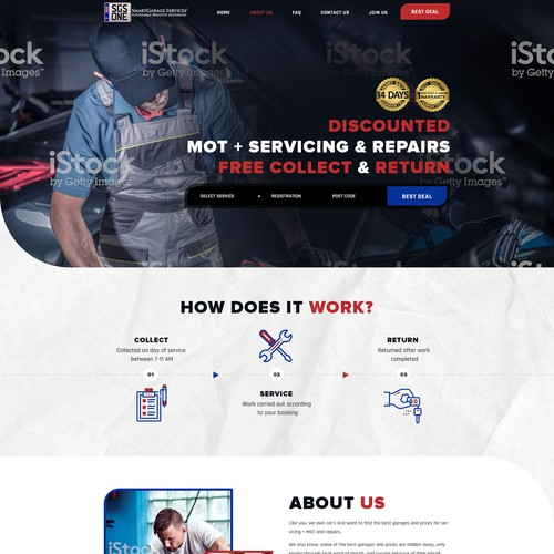 Web Design for Garage Services