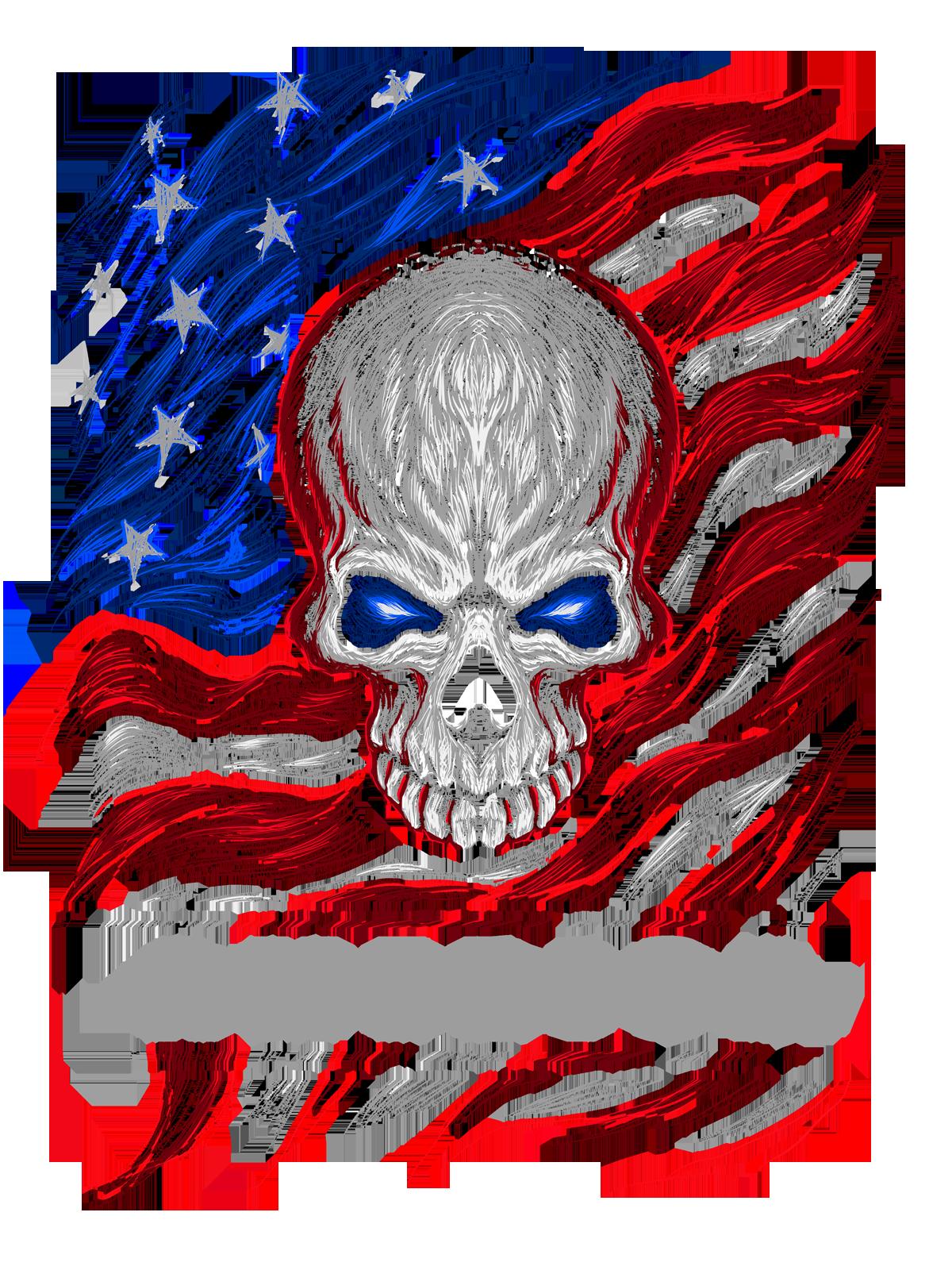 American themed skull design