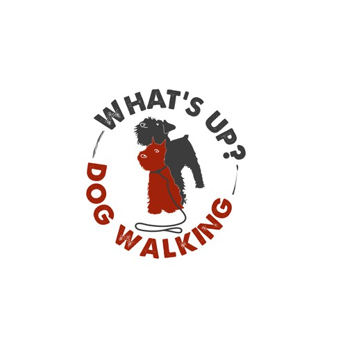 Logo for dog walking service