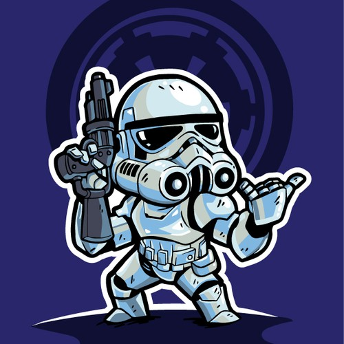 Star Wars character Stormtrooper do shaka