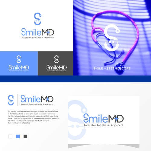 Smile icon and Stethoscope