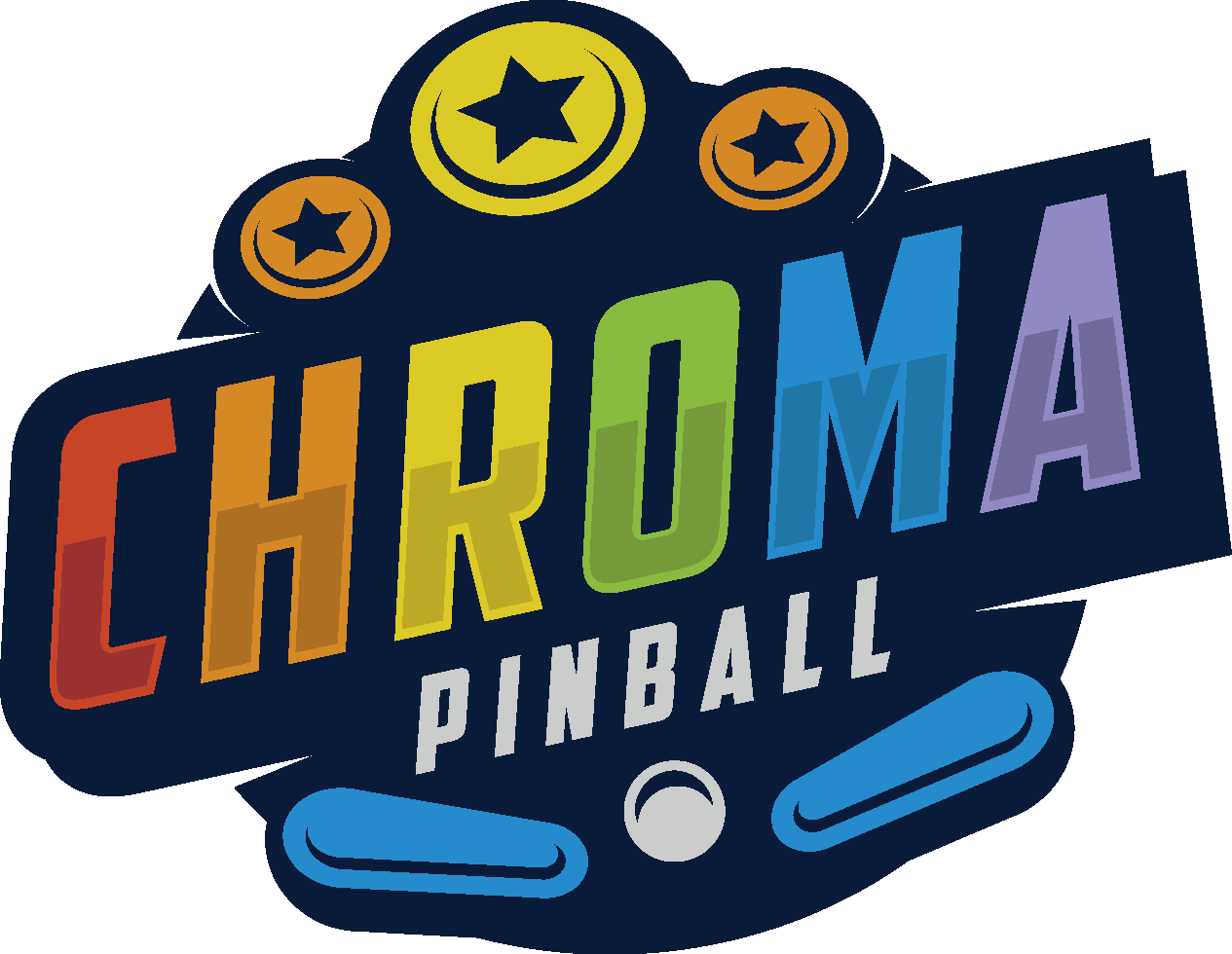 Design a colorful logo for a pinball company!