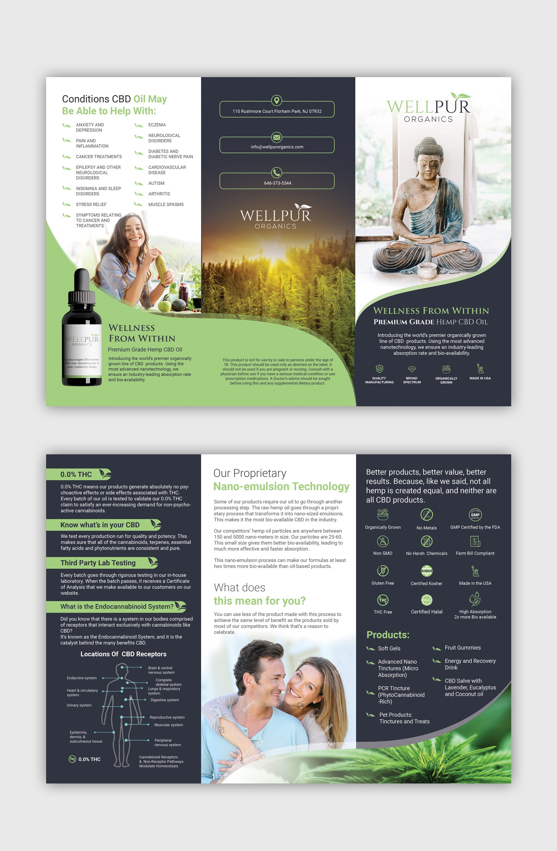 CBD WellPUR Organics brochure! Clean fresh lifestyle