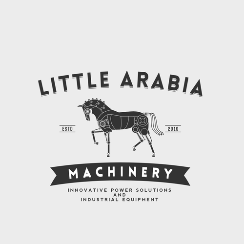 Sophisticated logo for the industrial machines exporting company