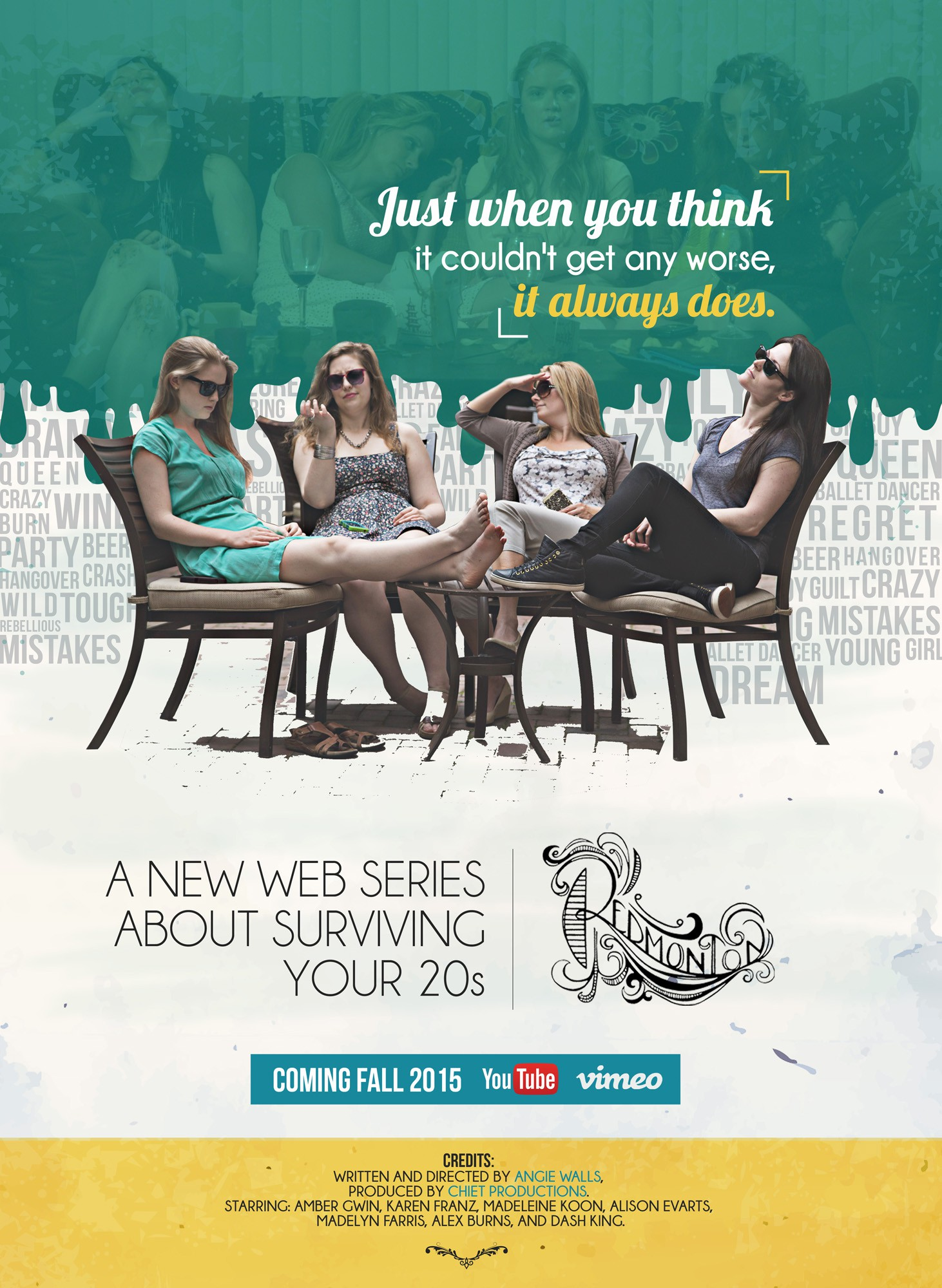 Design the official poster announcing a new web series coming this fall