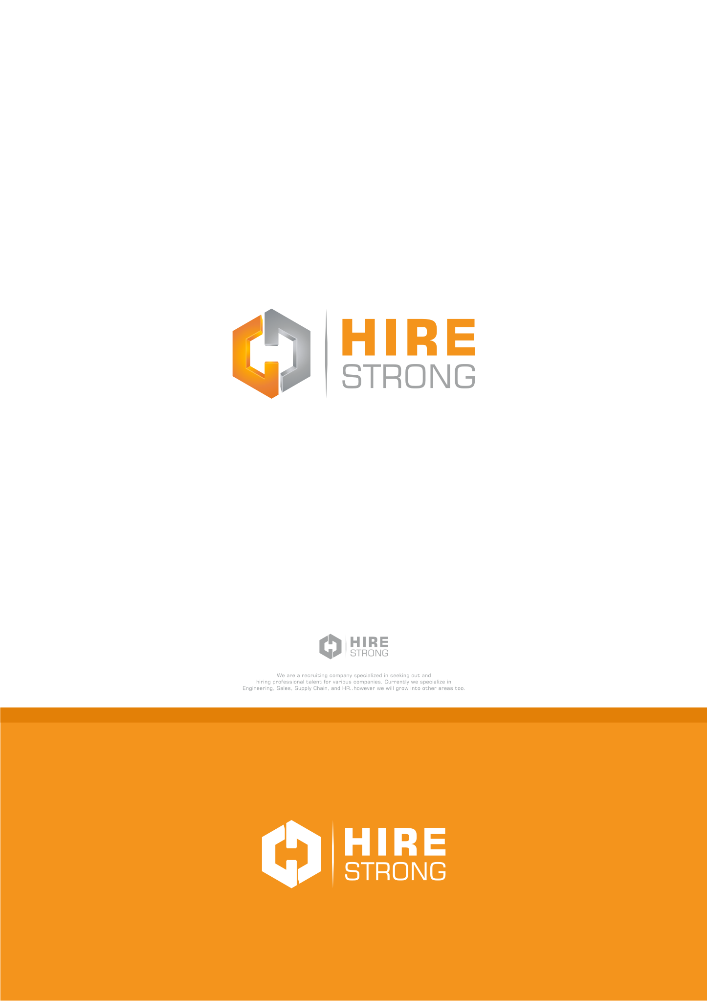 Create a subtle/sophisticated logo that shows strength and confidence (HireStrong).