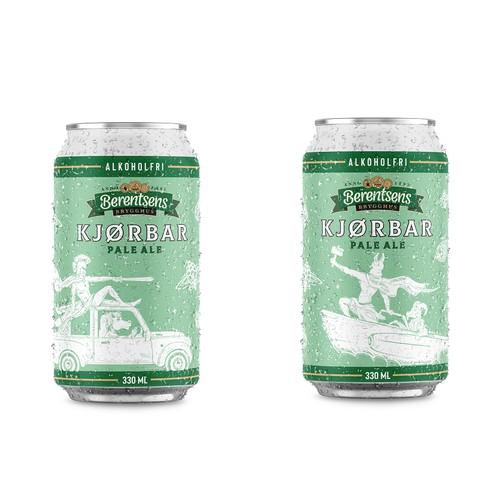 KJOBAR - Non-alcoholic beer label