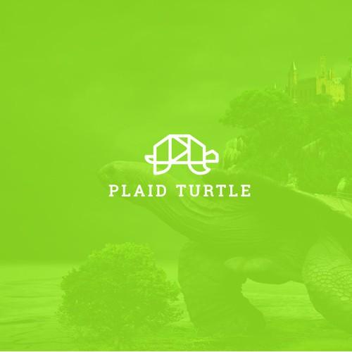 Geometric turtle logo mark