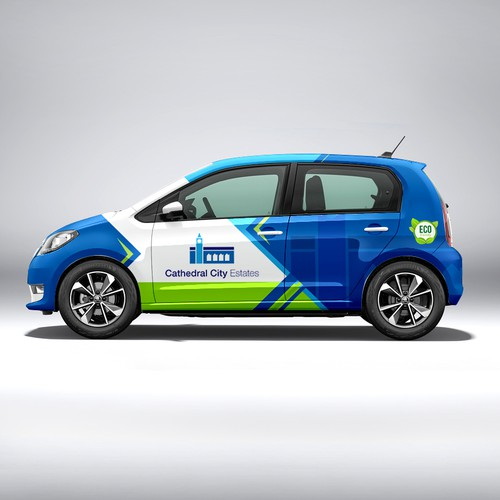 wrap for new electric company car.