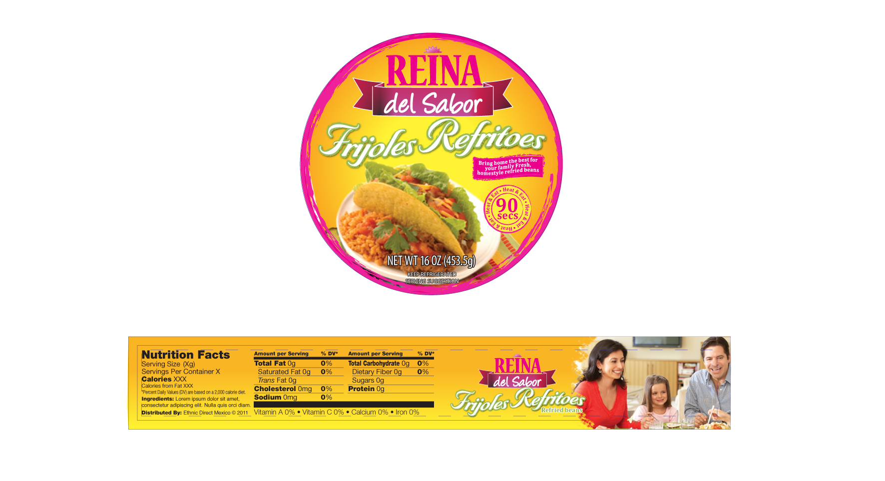 Reina del Sabor needs packaging labels