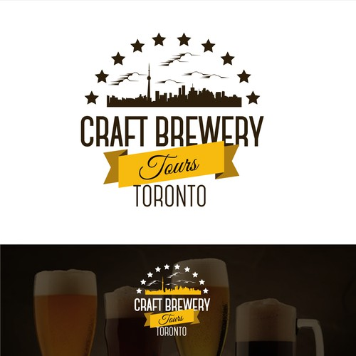 Craft Brewery Tours Toronto Logo Design
